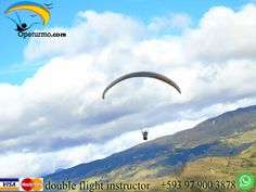 Paragliding flight Baños Ecuador Enjoys paragliding , full of adventure and adrenaline. We have promotions for groups , couples and birthdays .