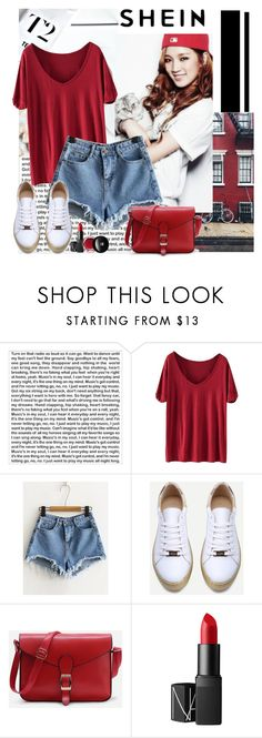 """Shein"" by polybaby ❤ liked on Polyvore featuring PBteen, WithChic, NARS Cosmetics and Edward Bess"