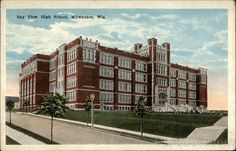 Image Detail for - Bay View High School Milwaukee Wisconsin  Back when it was a beautiful school. 1959