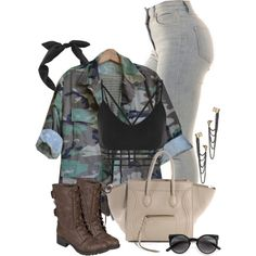Military Chic by annellie on Polyvore featuring Hailey Jeans Co., Dorothy…