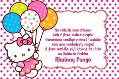 Convite digital personalizado Hello Kitty 013