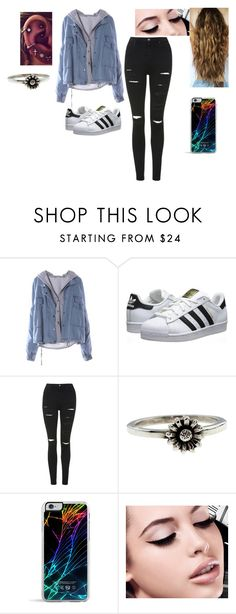 """""""Casual"""" by kendramiller543 ❤ liked on Polyvore featuring adidas Originals, Topshop, Metal Couture, Forever 21 and Maybelline"""