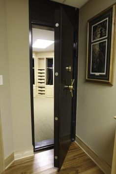 Jay needs this in our new home.  A safe room/gun vault.  Great, now we are survivalists!