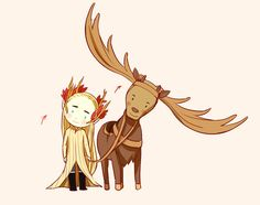 Thranduil and his elk ---- Everyone is upset about Kili and Fili's death, but what about Thranduil's Elk? He was my favorite!