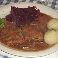 MANY TIMES! A FAVORITE! MW  ...Sauerbraten mit kartoffel kloese