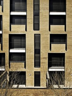 R+B Architects  Barcelona Apartment Building (2009)    I love the subtle shifts that disrupt the vertical alignment of openings. They make the elevation seem to almost vibrate without the cause being immediately obvious. Very nice...