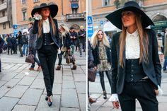 Anna Dello Russo, con estilo años 70. #StreetHair