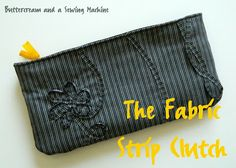 Tutorial: The Fabric Strip Clutch    You can also find even more listings for free purse patterns and tutorials here at http://www.free-purse-patterns.com/
