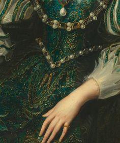"""portrait of anne of austria"" (detail) by peter paul rubens c.1625"