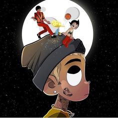 Chris Brown posted on his Insta Dope Cartoons, Dope Cartoon Art, Cartoon Pics, Cartoon Characters, Jordan Jackson, Mickey Mouse Wallpaper, Cute Canvas Paintings, Pop Art Posters, Vs The World