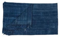 Vintage Indigo Throw - Pillows & Textiles - Flea | Jayson Home