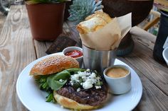 Have you tried our bison burger with fresh goat cheese made locally from Crow's dairy farm?