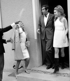 Jane Fonda and Roger Vadim Iconic Wedding 1965. Jane was wearing a Ted Lapidus Dress.