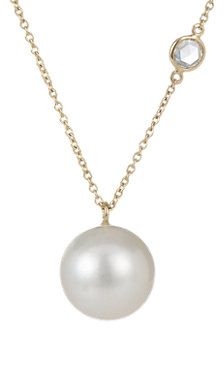 Diamond & South Sea Pearl Buoy Necklace