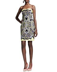 Techno Paisley Mosaic Dress, Yellow by Lanvin at Neiman Marcus.