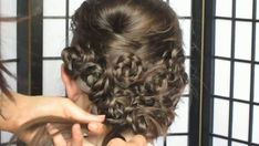 Elegant Flower Updo. many small braids twisted