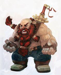 A weird, angry dwarf.