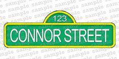 SESAME STREET custom sign