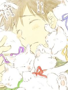 Iwatobi Swim Club - Makoto Tachibana loves kittens, and kittens love Makoto Tachibana ^-^ Rin Matsuoka, Makoto Tachibana, Makoharu, Kuroko, Manga Boy, Manga Anime, Haru And Makoto, Free Makoto, Yuri