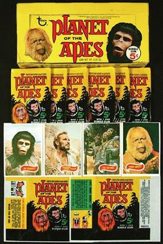 Planet of the Apes Topps trading cards