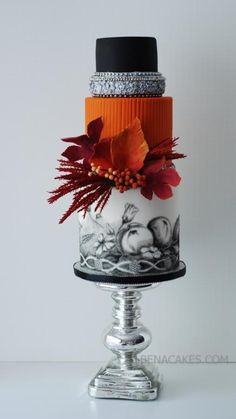 Fall Themed Cake. - Cake by Albena