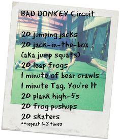 Family Fitness FUN w this WOD! Turnin' Bad Donkeys into future #badasses:)