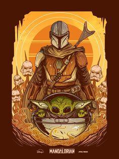 The Mandalorian and The Child aka Baby Yoda (Star Wars) Star Wars Pictures, Star Wars Images, Star Wars Fan Art, Star Trek, Star Wars Cartoon, Nerd, Star Wars Wallpaper, Hd Wallpaper, Star Wars Baby