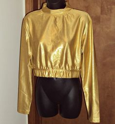 Womens Size 2X Glam Gold Lame Top Fitness Workout Fitness Sportswear for Her  #gtmsportswear #ShirtsTops