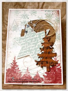 Kreatives Fusselchen: Weihnachtskarte vs Novemberblues