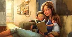 hank you Jehovah help for our children! ♥️♥️♥️♥️📚📀🖥♥️♥️♥️♥️Train Your Child to Serve Jehovah 👧🏻👦🏻👑👧👦👑👧🏽👦🏽 Jesus did not Family Illustration, Illustration Art, Art Illustrations, Mother Art, Buch Design, Animation, Jehovah's Witnesses, Montessori, Book Art