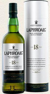 Laphroaig Single Malt Whisky - 18 Year Old single malt available from Whisky Please.
