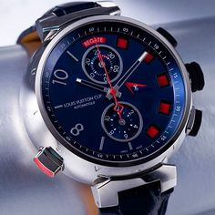 kind of like this watch: Louis Vuitton Tambour Spin Time Regatta Amazing Watches, Beautiful Watches, Cool Watches, Watches For Men, Louis Vuitton Watches, Fine Watches, Men's Watches, Luxury Watches, Fashion Watches