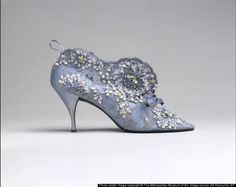 Bottine by Roger Vivier for Christian Dior, French, 1961.  Held in the collection of the Metropolitan Museum of Art, the bottine from 1961 is one of the most famous of Vivier's designs.