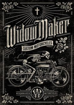 Widowmaker Motorcycles Poster