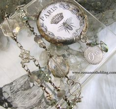 ❥ Romancing the Bling: Miriam Haskell meets Etched Brass...Swoon