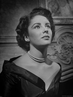 Actress Elizabeth Taylor Premium Photographic Print by J. R. Eyerman at Art.com