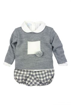 Paloma de la O - Three piece baby outfit Boys Fall Fashion, Baby Boy Fashion, Baby Boy Outfits, Kids Outfits, Cute Outfits, Little Girl Poses, Bb Style, Vintage Baby Boys, Clothes