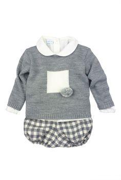 Paloma de la O - FW15. Three piece baby outfit