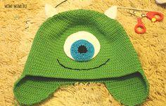 Knitted cap crochet Monsters Inc. FP 1/15.