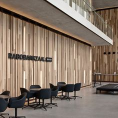 Wooden wall cladding / indoor / textured - LINEAR | WOODEN WALL - Derako Wooden Wall Cladding, Wall Cladding Interior, Wooden Walls, Wooden Wall Design, Timber Cladding, Wood Panel Walls, Interior Walls, Wood Paneling, Interior Design Office Space