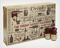 Whisky Advent Calendar Worry no more about finding a bad piece of chocolate on the other side of the door. The Whisky Advent Calendar provid. Fruits Deguises, Spicy Drinks, Whiskey Gifts, Whiskey Cocktails, Master Of Malt, Pot Still, Advent Calenders, Packaging, Gift Ideas
