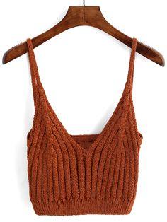 Spaghetti Strap Sweater Cami Top