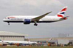 British Airways' first 787 arrives at London Heathrow June '13.
