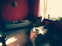Room with red walls  @alinaberrycoffeechery