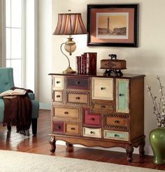 Furniture Of America Colorful Chest, Multi Finish Desree Collection – Magnifique Furniture