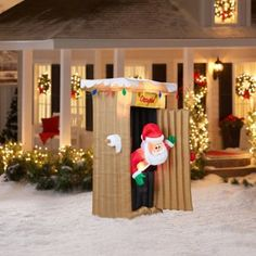 Animated Christmas Inflatable Santa 6' Tall Airblown Yard Outdoor Decoration #Gemmy