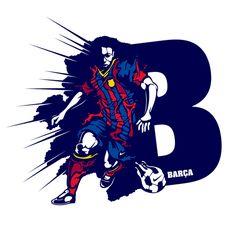 Súper B - Barça B by VanilaBCN, via Behance
