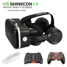 VR SHINECON 6.0 vr box 2.0 3d vr glasses virtual reality gafas goggles google cardboard Original bobo vr headset For smartphone  Price: 46.86 & FREE Shipping Virtual Reality Goggles, Virtual Reality Headset, Smartphone Price, Android Smartphone, Vr Shinecon, 3d Vr Box, Technology Gifts, Vr Games