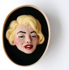Needle Felted Marilyn Monroe by F for Felt ♥ Felt Needle Wool Doll