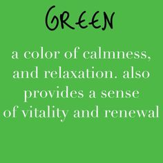 Meaning Of Green World Color Life Meanings Psychology